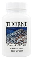 Thorne Research - PharmaGABA-250 mg. - 60 Vegetarian Capsules (693749662013)