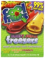 Cool Fruits - Cool Fruits Fruit Juice Freezers 14 Sour Apple & Strawberry Flavored Freeze Pops - 14 oz. (650637374014)