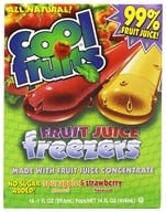 Image of Cool Fruits - Cool Fruits Fruit Juice Freezers 14 Sour Apple & Strawberry Flavored Freeze Pops - 14 oz.