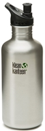 Image of Klean Kanteen - Stainless Steel Water Bottle Classic with Sport Cap 3.0 Brushed Stainless - 40 oz.