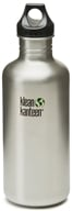 Klean Kanteen - Stainless Steel Water Bottle Classic with Loop Cap Brushed Stainless - 40 oz.