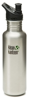 Klean Kanteen - Stainless Steel Water Bottle Classic with Sport Cap 3.0 Brushed Stainless - 27 oz. - $18.17