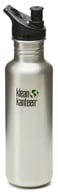 Image of Klean Kanteen - Stainless Steel Water Bottle Classic with Sport Cap 3.0 Brushed Stainless - 27 oz.