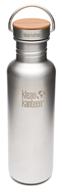 Klean Kanteen - Stainless Steel Water Bottle Reflect with Stainless Bamboo Cap Brushed Stainless - 27 oz., from category: Water Purification & Storage
