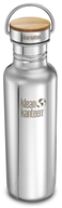 Klean Kanteen - Stainless Steel Water Bottle Reflect with Stainless Bamboo Cap Mirrored Stainless - 27 oz.