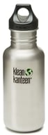 Image of Klean Kanteen - Stainless Steel Water Bottle Classic with Loop Cap Brushed Stainless - 18 oz.