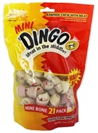 Dingo - Meat In The Middle Rawhide Chew Mini 21-Pack - 9 oz.