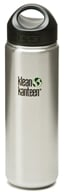 Klean Kanteen - Stainless Steel Water Bottle Wide with Stainless Loop Cap Brushed Stainless - 27 oz.