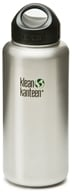 Klean Kanteen - Stainless Steel Water Bottle Wide with Stainless Loop Cap Brushed Stainless - 40 oz. - $25.45
