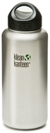 Klean Kanteen - Stainless Steel Water Bottle Wide with Stainless Loop Cap Brushed Stainless - 40 oz.