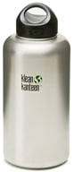 Klean Kanteen - Stainless Steel Water Bottle Wide with Stainless Loop Cap Brushed Stainless - ...