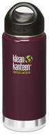 Klean Kanteen - Stainless Steel Water Bottle Wide Insulated with Stainless Loop Cap Deep Purple - 16 oz.