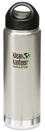 Image of Klean Kanteen - Stainless Steel Water Bottle Wide Insulated with Stainless Loop Cap Brushed Stainless - 20 oz.