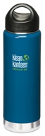Klean Kanteen - Stainless Steel Water Bottle Wide Insulated with Stainless Loop Cap Monterey Blue - 20 oz.