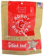 Cloud Star - Buddy Biscuits Soft & Chewy Dog Treats Grilled Beef - 6 oz. by Cloud Star