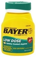Bayer Healthcare - Bayer Low Dose Safety Coated Aspirin 81 mg. - 300 Enteric-Coated Tablets - $15.89