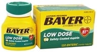 Image of Bayer Healthcare - Bayer Low Dose Safety Coated Aspirin 81 mg. - 120 Enteric-Coated Tablets
