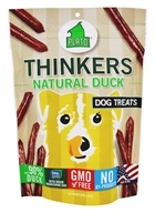 Image of Plato Pet Treats - Thinkers Dog Treats Duck Sticks - 10 oz.