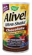 Nature's Way - Alive Pea Protein Ultra-Shake Whole Food Energizer Chocolate - 21 oz. - $16.76
