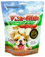 Loving Pets - Vita-Hide Heart Healthy Rawhide Dog Treats 4 in. - 8 Pack by Loving Pets