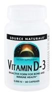 Source Naturals - Vitamin D-3 5000 IU - 60 Capsules by Source Naturals