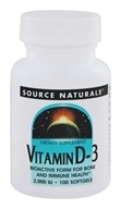 Source Naturals - Vitamin D-3 2000 IU - 100 Softgels