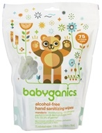 BabyGanics - Hand Sanitizing Wipes The Germinator Alcohol Free Light Citrus Scent - 75 Packet(s) Value Pack (813277010593)