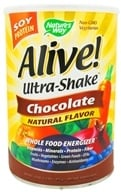 Nature's Way - Alive Soy Protein Ultra-Shake Whole Food Energizer Chocolate - 34 oz., from category: Health Foods