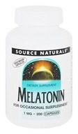 Image of Source Naturals - Melatonin 1 mg. - 200 Capsules