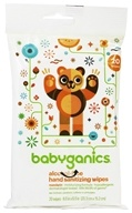 BabyGanics - Hand Sanitizing Wipes The Germinator Alcohol Free Light Citrus Scent - 20 Wipe(s)