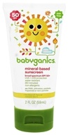 BabyGanics - Cover-Up Baby Sunscreen Lotion For Face & Body Waterproof Fragrance Free 50 SPF - 2 oz. (813277012474)