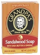 Image of Grandpa's Soap Co. - Sandalwood Soap With Shea Butter & Ginseng - 3.25 oz.