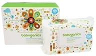 BabyGanics - Face, Hand & Baby Wipes Extra Gentle Thick N' Kleen Fragrance Free - 400 Wipe(s) (813277013419)
