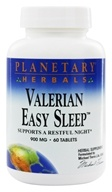 Planetary Herbals - Valerian Easy Sleep 900 mg. - 60 Tablets, from category: Herbs