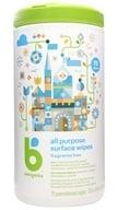 BabyGanics - All Purpose Surface Wipes The Grime Fighter Fragrance Free - 75 Wipe(s) (813277010210)