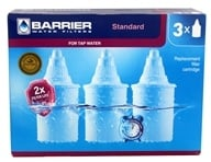 Barrier Water Filters - Water Pitcher Filter Replacement - 3 Pack (796515300277)