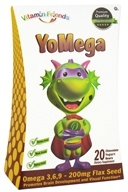 Vitamin Friends - Yomega Omega 3-6-9 with Flax Seed Chocolate Flavor - 20 Yogurt Bears