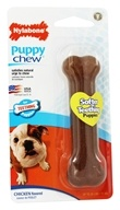 Nylabone - Puppy Chew Bone Regular For Teething Puppies Up To 25 lbs. Chicken Flavored by Nylabone