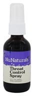 NuNaturals - Pure Liquid Throat Control Spray - 2 oz. (739223000305)