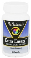 NuNaturals - Extra Energy Quick Energy Formula - 30 Capsules by NuNaturals