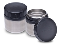 LunchBots - Rounds Stainless Steel Watertight Food Container Set Black by LunchBots