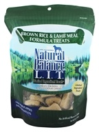 Image of Natural Balance Pet Foods - L.I.T. Limited Ingredient Treats For Dogs Brown Rice & Lamb Meal - 14 oz.