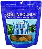 Natural Balance Pet Foods - Roll A Rounds Crunchy Baked Treats For Dogs Lamb Formula - 8 oz.