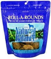 Image of Natural Balance Pet Foods - Roll A Rounds Crunchy Baked Treats For Dogs Lamb Formula - 8 oz.
