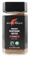 Organic Fairtrade Instant Coffee Freeze Dried - 3.53 oz. by Mount Hagen