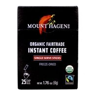 Mount Hagen - Organic Instant Coffee Freeze Dried 25 Single Serve Packets - 1.76 oz. by Mount Hagen