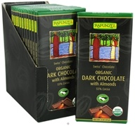 Rapunzel - Organic Swiss Dark Chocolate with Almonds 55% Cocoa - 3 oz. (735037010509)