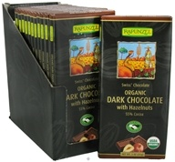 Rapunzel - Organic Swiss Dark Chocolate with Hazelnuts 55% Cocoa - 3 oz. (735037010608)
