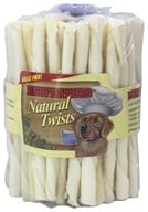 Beefeaters - Natural Rawhide Twists - 75 Pack (011985088778)