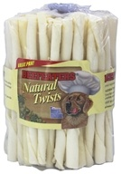 Beefeaters - Natural Rawhide Twists - 75 Pack